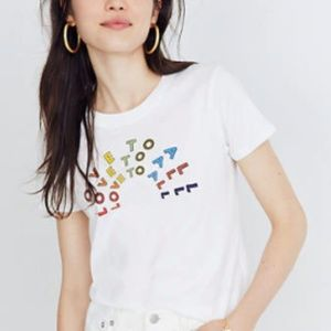 Madewell Love to All Human Rights XS Graphic Tee